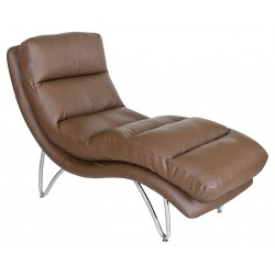 Leather chaise side view