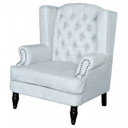 Grey Armchair front view