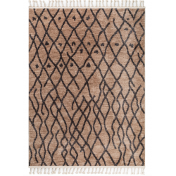 Rug beige/grey front view