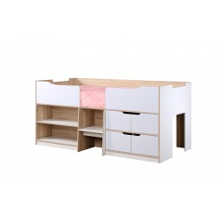 Sydney Cabin Bed white and oak front view