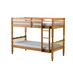 Riley Bunk Bed pine angle view