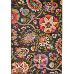 Rug multicolour floral front view