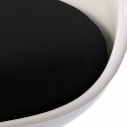 Eero Saarinen Inspired Tulip Style Chair black cushion