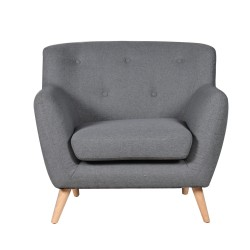 Topsham Armchair dark grey light legs