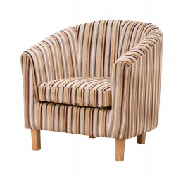 Denbury Stripe Tub Chair brown