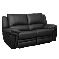 Modbury 2 Seater Recliner black front view