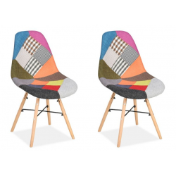 Ida Pair of Patchwork Chairs