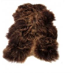 Katrin sheepskin rug rusty brown