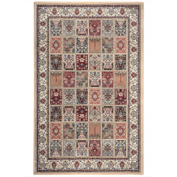 Evelyn Ornamental Check Rug, Top