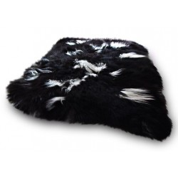 Sissa Icelandic Sheepskin Rug black and white