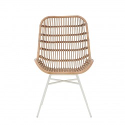 Torello Rattan Chair natural, front view