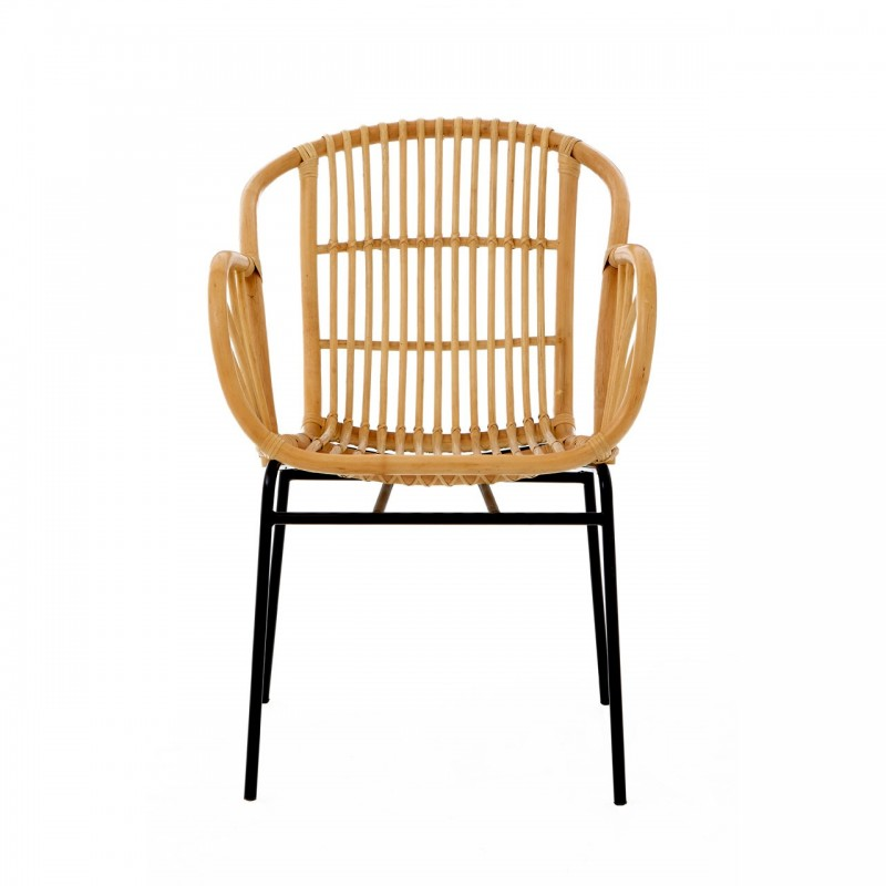 Rialma Rattan Chair Natural, front view