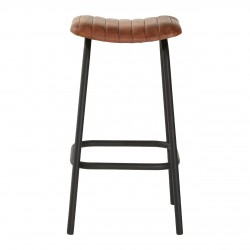 Gomez Leather Stool front view