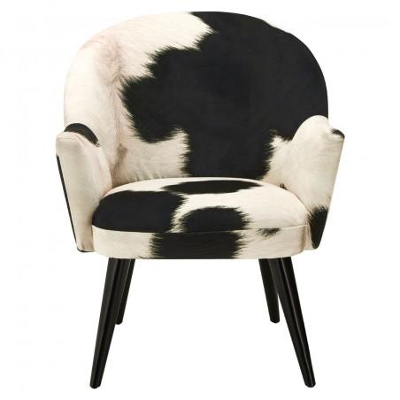 Angus Cowhide Armchair front view