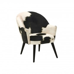 Angus Cowhide Armchair front angled view