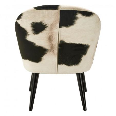 Angus Cowhide Armchair back view