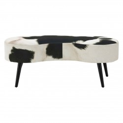 Angus Cowhide Bench front view