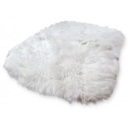 Aletta Icelandic Sheepskin Rug natural white background