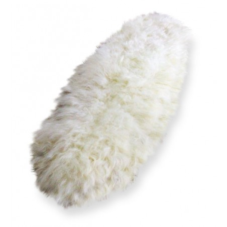 Andri Icelandic Sheepskin Runner natural off white white background