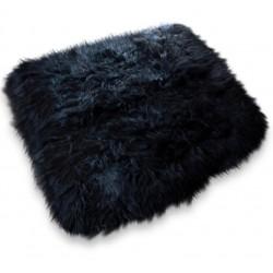 Gilly Icelandic Sheepskin Rug black white background