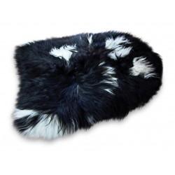 Kristjan Icelandic Sheepskin Rug black and white white background