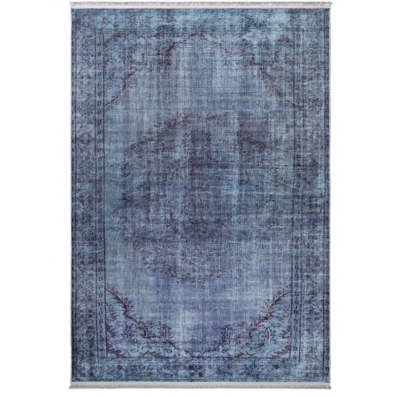 An image of Georgia Printed Rug - Turquoise - 230cm x 160cm