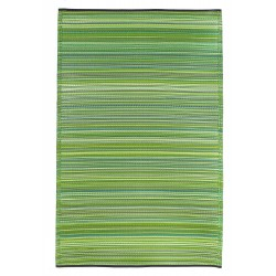 Fab Hab Cancun Outdoor Rug green top view