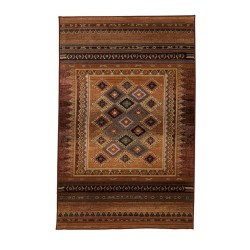 Mallaw Nomadic Persian Style Rug Rug, top view