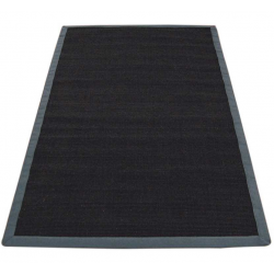 Omar Black/Grey Sisal Rug, top view
