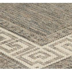 Connor Grey Flatweave Rug, detail