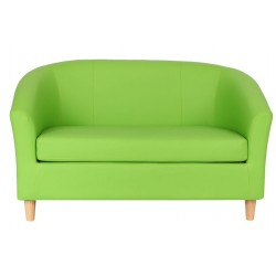 Funki Twin Tub Chair Lime Green Front View