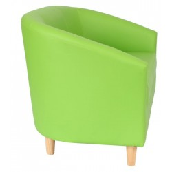 Funki Twin Tub Chair Lime Green Side View
