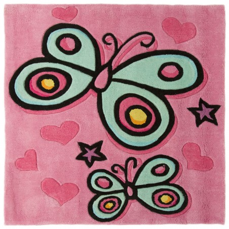 Blossom Butterfly Rug Pink