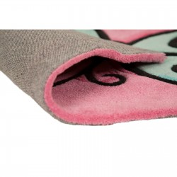 Blossom Butterfly Rug Pink Backing Detail