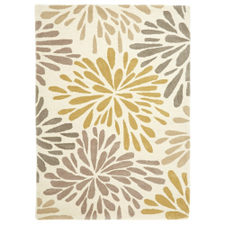 Corrine Flower Rug - top view
