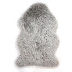 Susie Faux Fur Sheepskin Rug, top view