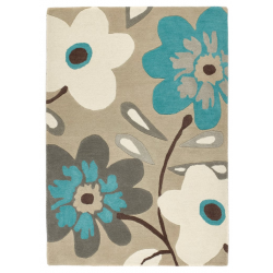 Elodie Flower Rug - top view