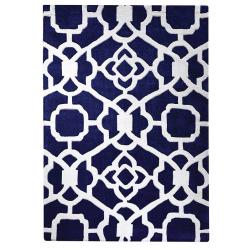 Savannah Pattern Rug, blue - top view