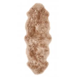 Leta Mink Sheepskin rug, double - top view