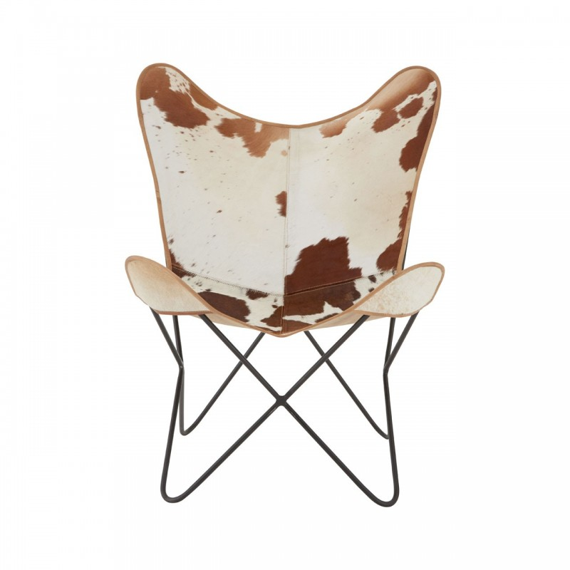 Gallo Cowhide Butterfly Chair - front view