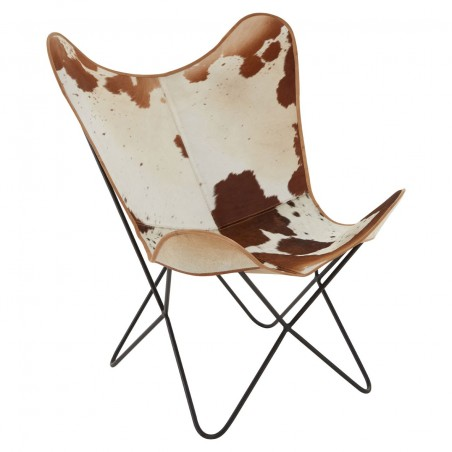 Gallo Cowhide Butterfly Chair - front angled view