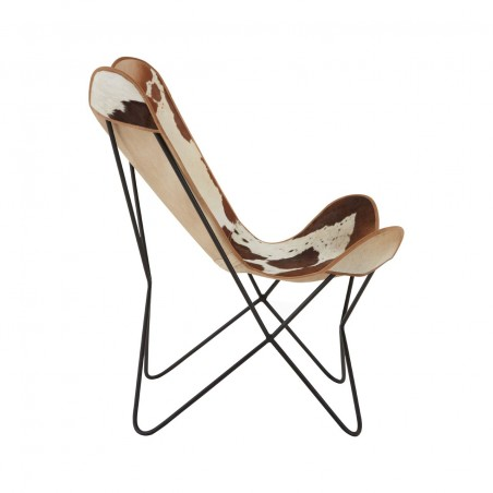 Gallo Cowhide Butterfly Chair, side view