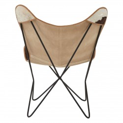 Gallo Cowhide Butterfly Chair, back view
