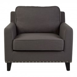 Banbury Grey Armchair, front view