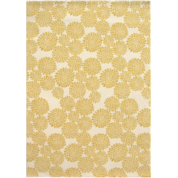 Edito Yellow Blooming Flowers Rug top view