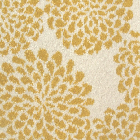 Edito Yellow Blooming Flowers Rug close up