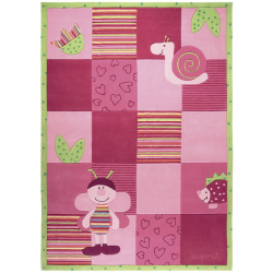 Busy Lizzy Bee Rug Pink