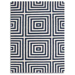 Rocco Geometric Rug, blue top view