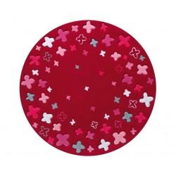 Little Star Bloom Field Rug  Red