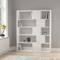 An image of Cara Bookcase White and Ancient White
